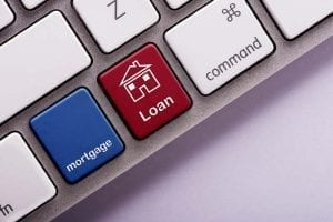Mortgage Loan on a computer keyboard