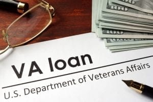 VA Loan Papers and Money