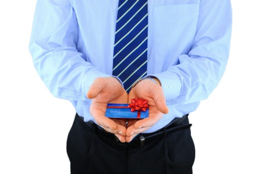 Man holding a Gift Card