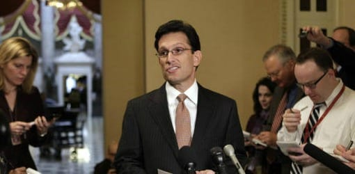 Eric Cantor Opposed Fiscal Cliff Deal
