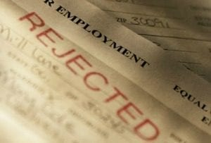 Some job applicants are rejected because of poor credit scores.