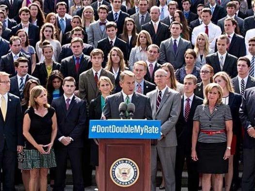 U.S. House Speaker John Boehner talks about student loan interest rates