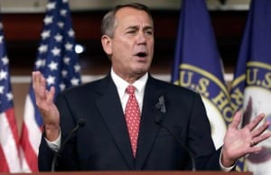 Speaker of the House John Boehner speaks before the budget deal