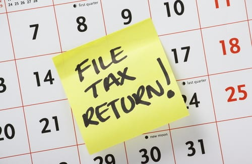 file tax return on a calendar