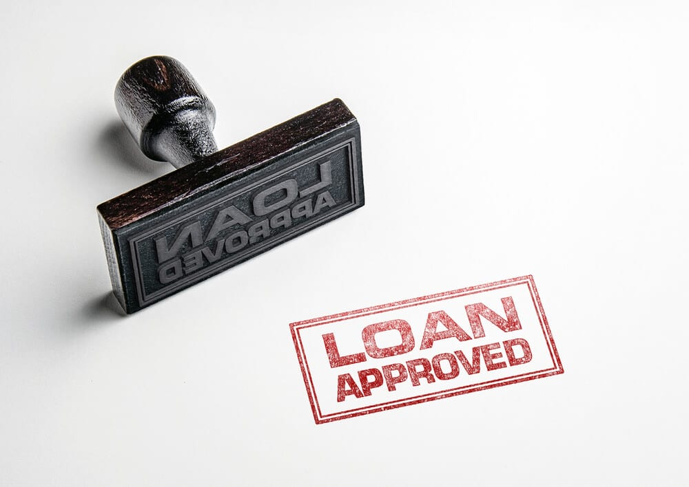 Loan Approved stamp of approval