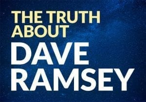 The Truth About Dave Ramsey text on a starry blue background