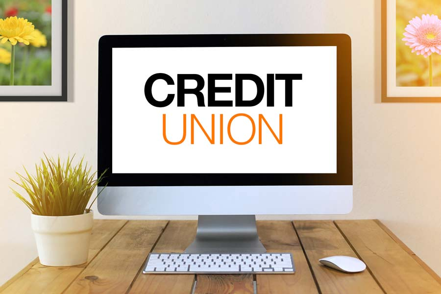 Credit Unions written on a computer screen