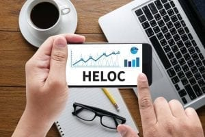 Applying for HELOC on a smartphone