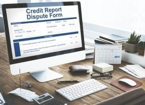 Credit Report Dispute Form on the Computer