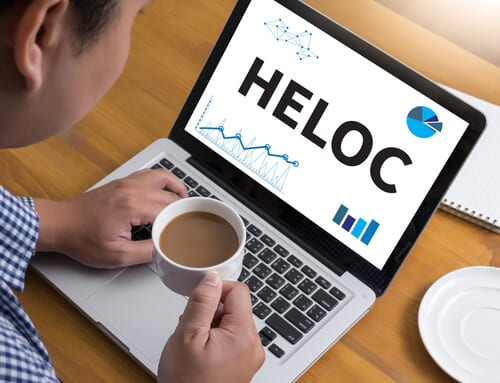 HELOC on laptop screen