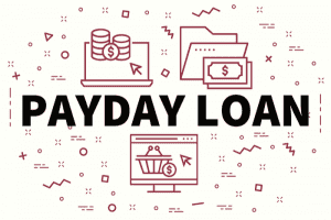 Illustration of Payday loans and lenders
