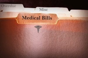Folder with medical bills