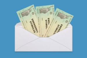 Envelope containing the third stimulus check