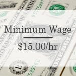 $15 minimum wage