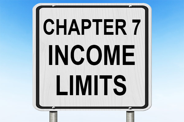 Street sign that says Chapter 7 Income Limits